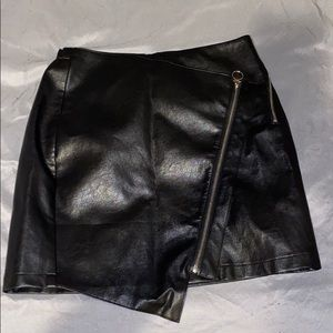 medium leather skirt